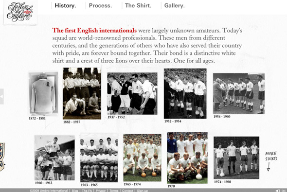 Tailoured by England - Umbro