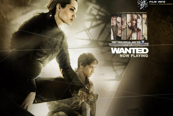 Wanted movie website